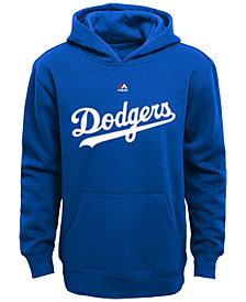 Majestic Kids' Los Angeles Dodgers Wordmark Fleece Hoodie, Big Boys (8-20)
