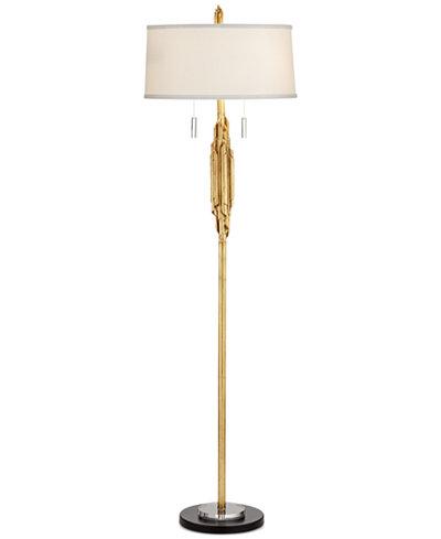 CLOSEOUT! Pacific Coast Gold Ribbon Kimbra Floor Lamp - Lighting ...