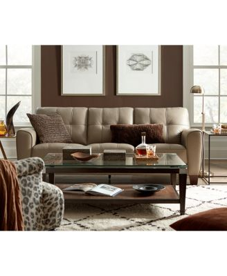 kaleb tufted leather sofa collection created for macyu0027s