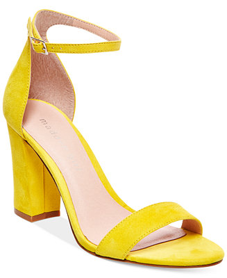 Madden Girl Bella Two Piece Block Heel Sandals Sandals