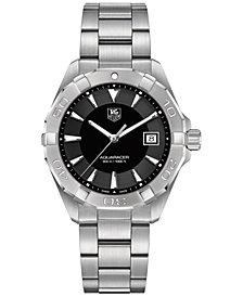 TAG Heuer Men's Swiss Aquaracer Stainless Steel Bracelet Watch 41mm