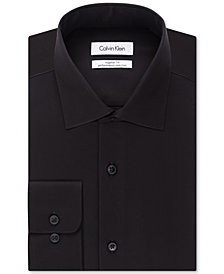 Calvin Klein STEEL Men's Big & Tall Classic-Fit Non-Iron Herringbone Dress Shirt