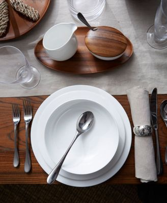Skye Dinnerware Collection by Robin Levien Wood Individual Salad Bowl