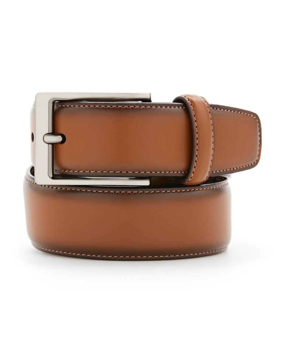 ffdb22aab Perry Ellis Portfolio Men's Leather Amigo Dress Belt