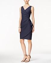 603b35146ee1 Alex Evenings Compression Embellished Ruched Sheath Dress