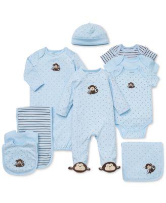 Baby Boys Monkey Hat & Gown Set