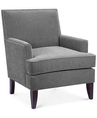 Furniture Kendall Fabric Accent Chair Quick Ship