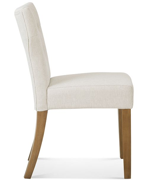 Carriage Co Dan Set Of 2 Tufted Dining Chairs Quick Ship