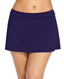 Anne Cole Plus Size Swim Skirt