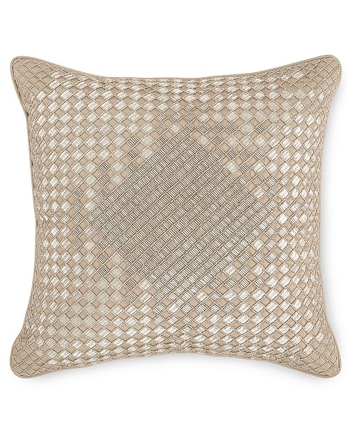 """Hotel Collection CLOSEOUT! Dimensions Champagne 16"""" x 16"""" Decorative Pillow, Created for Macy's"""