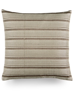 Hotel Collection Modern Geo Stripe 18 Square Decorative Pillow Created for Macys Bedding