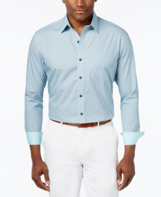 Image of Tasso Elba 100% Cotton Regular-Fit Print Shirt, Only at Macy's