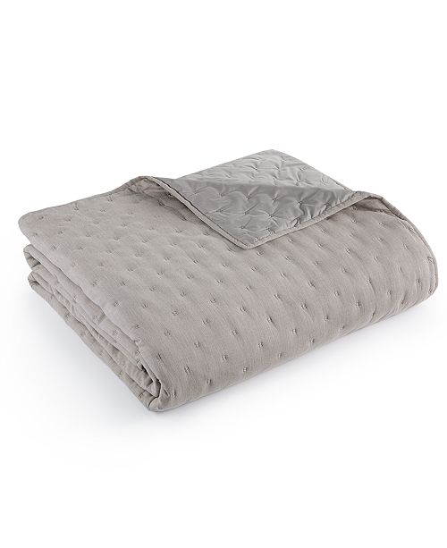 Hotel Collection Eclipse Quilted Full/Queen Coverlet, Created for Macy's