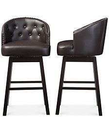 Avril Swivel Bar Stool (Set Of 2), Quick Ship