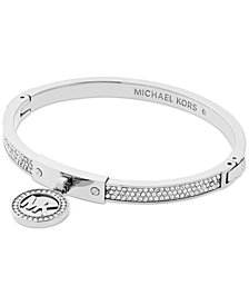 Michael Kors Logo Pavé Hinged Bangle Bracelet