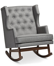Bethany Gray Rocking Chair, Quick Ship