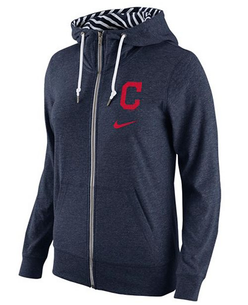 timeless design a2868 48e0f Nike Women's Cleveland Indians Gym Vintage Full-Zip Hoodie ...
