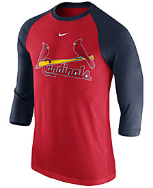 Nike Men's St. Louis Cardinals Wordmark Raglan T-Shirt
