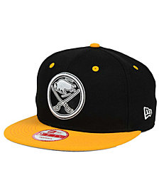 New Era Buffalo Sabres Black White Team Color 9FIFTY Snapback Cap