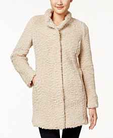 Kenneth Cole Teddy Faux-Fur Coat