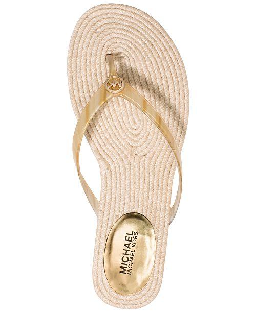 44b62490a Michael Kors Hazel Espadrille Flat Thong Sandals   Reviews - Sandals ...