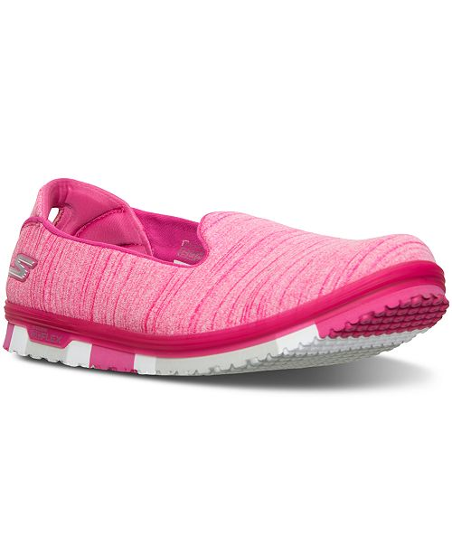 a18f250bc7be3 ... Skechers Women's GO Mini Flex Skimmer Walking Sneakers from Finish ...