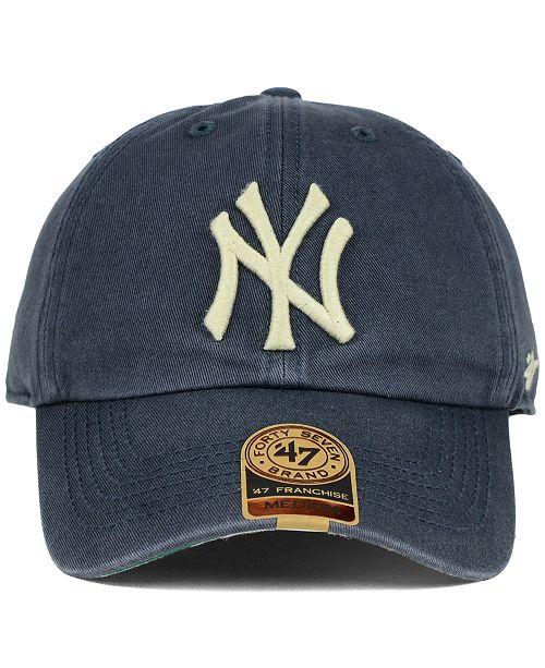 47 Brand New York Yankees Vintage Franchise Cap - Sports Fan Shop By ... 5a630584dde
