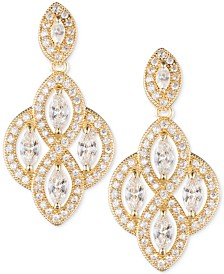 Anne Klein Marquise Crystal Drop Earrings