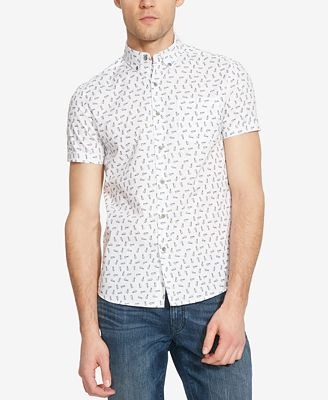 Kenneth Cole Reaction Men's Pineapple-Print Short-Sleeve Shirt ...