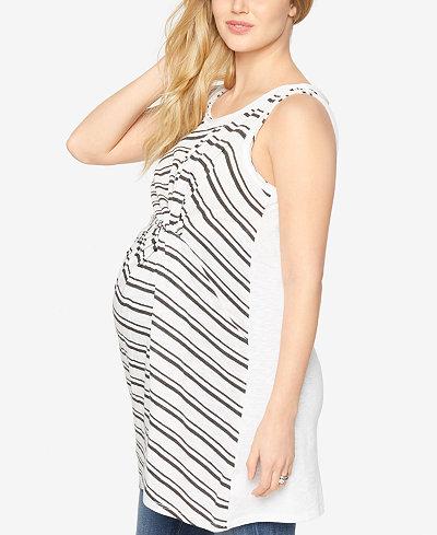 A Pea In The Pod Maternity Striped Top