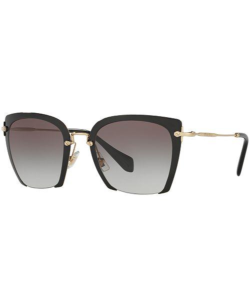 MIU MIU Sunglasses, MU 52RS - Sunglasses by Sunglass Hut - Handbags ... 3158a31ce6