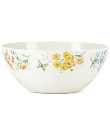 Lenox Butterfly Meadow Collection Melamine Large Serving Bowl