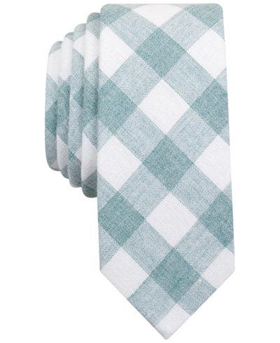 Original Penguin Men's Park Checked Skinny Tie