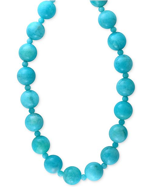 EFFY Collection EFFY Amazonite (12 and 4mm) Bead Statement Necklace in 14k Gold