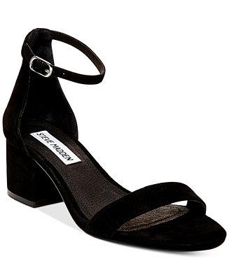 Steve Madden Women S Irenee Two Piece Block Heel Sandals