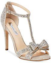 I.N.C. Women's Reesie Rhinestone Bow Evening Sandals, Created for Macy's