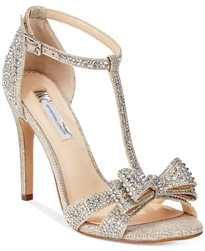 I.N.C. Women's Reesie Rhinestone Bow Evening Sandals, Created for Macy's