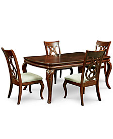 Good Bordeaux 5 Pc. Dining Room Set (Dining Table U0026 4 Side Chairs)