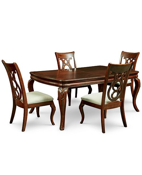 Furniture Bordeaux 5-Pc. Dining Room Set (Dining Table & 4 Side Chairs)