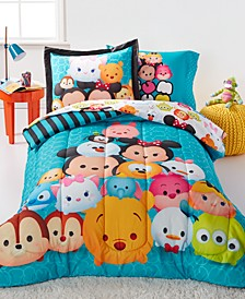 Tsum Tsum Teal Stacks 5 Piece Bedding Collection