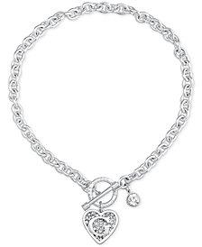 GUESS Logo Link Pendant Necklace