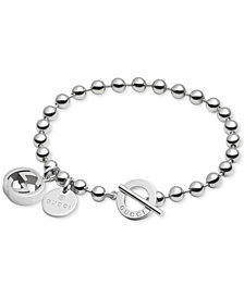 Gucci Women's Sterling Silver Boule Chain and Charms Toggle Bracelet YBA390954001017