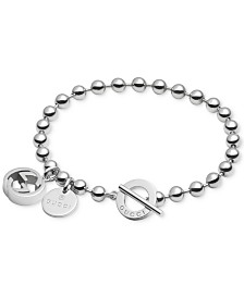 Gucci Women S Sterling Silver Boule Chain And Charms Toggle Bracelet Yba390954001017