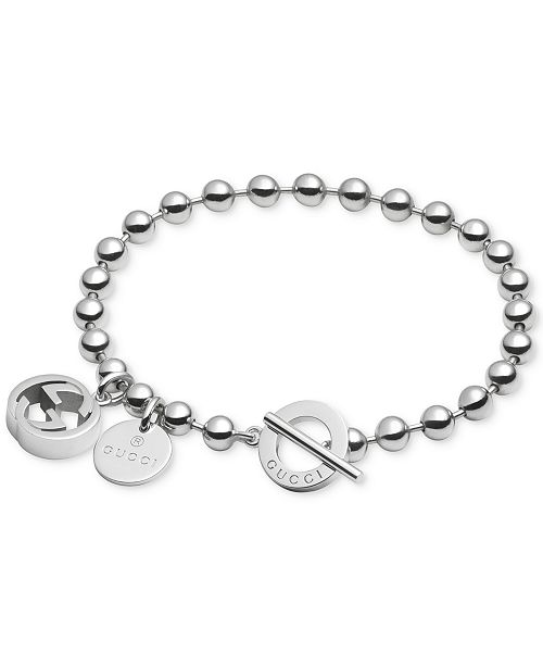 Women S Sterling Silver Boule Chain And Charms Toggle Bracelet Yba390954001017 2 Reviews 330 00
