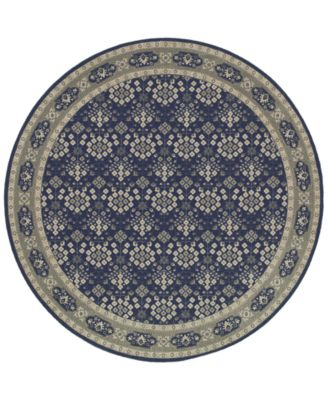 Richmond Lillahan Navy/Grey 7'10'' Round Rug