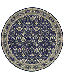 Oriental Weavers Richmond Lillahan Navy/Grey 7'10'' Round Rug
