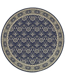 Oriental Weavers Richmond Lillahan Navy/Grey 7'10'' Round Rug