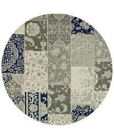 """Oriental Weavers Richmond Patchwork Ivory/Grey 7'10"""" Round Rug"""