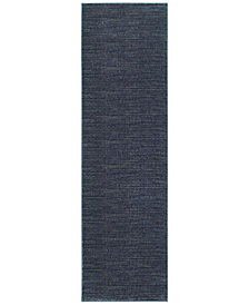 "Oriental Weavers Richmond Casual Navy/Grey 2'3"" x 7'6"" Runner Rug"