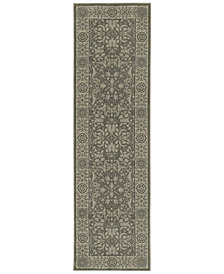 "Oriental Weavers Richmond Floral Sarouk Grey/Ivory 2'3"" x 7'6"" Runner Rug"